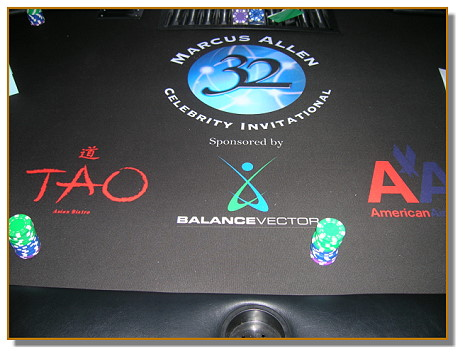 A Casino Event can create a custom table layout with your corporate logo!