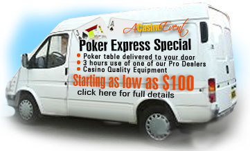 Poker Express Special - Poker Parties starting as low as $100